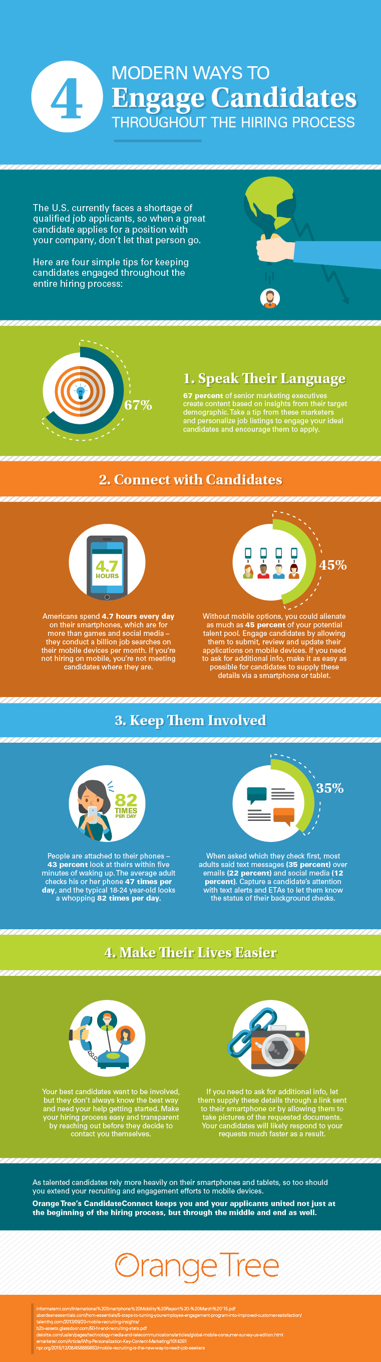An infographic listing the four tips for better candidate engagement.